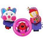 Bébi játékok - Babakocsira rögzíthető foglalkoztató - Kormányos