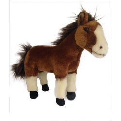 Plüss Pónik - Plüss ló barna-fehér 30cm