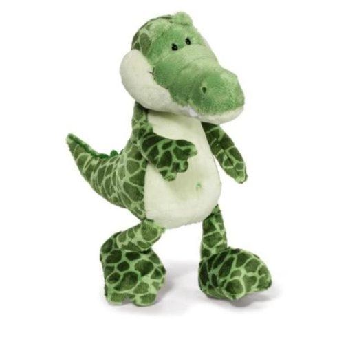 Fiús játékok - Nici Krokodil plüss figurák - 35 centis logólábú plüss krokodil
