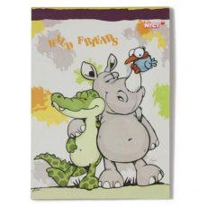 Happy Box Nici Füzet - Krokodil, és Orrszarvú jegyzetfüzet