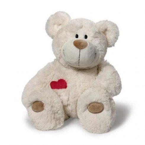 Nici maci - Happy Box - Love Bear lógólábú, 15 cm