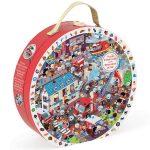 Puzzle gyerekeknek - Képkereső Puzzle -  Tűzoltók - Janod