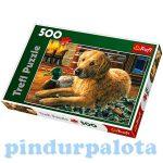 Junior puzzle - Kutya a kandalló előtt 500db-os puzzle Trefl