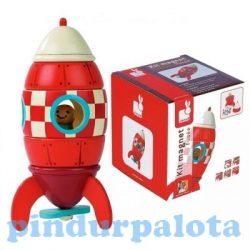 Fiús játékok - Mágneses űrhajó fából