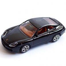 Bburago 1/43 Porshe Carrera 911 fekete fém kisautó
