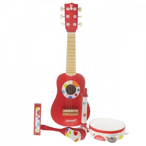 Játék hangszerek gyerekeknek - Confetti gitáros zeneszett 5 db-os Janod