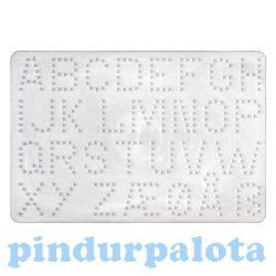 Gyöngyök - Sablonok - Hama, ABC vasalható gyöngy sablon Midi