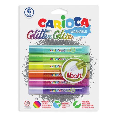 Kreatív hobby készletek a gyermeki kreativitás kibontakozásához - Neon csillámos dekoráló szett 6db