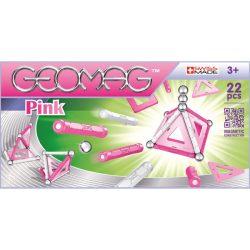 Építőjátékok - Geomag panel pink 22db-os készlet