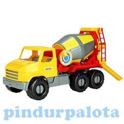 Műanyag járművek - City Truck Betonkeverő - Wader