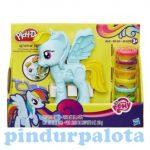 Pónis játékok - Play-Doh Én kicsi pónim Rainbow Dash szépségszalon gyurmaszett - Hasbro