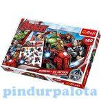 Puzzle - Kirakó - Gyerek puzzle - Bosszúállók 160 db-os puzzle tetoválással