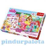 Junior puzzle - Disney Hercegnők Palace Pets 100db-os puzzle szett tetoválással Trefl
