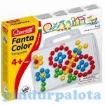 Motorikus készségfejlesztő játékok - Quercetti, Kreatív pötyi tábla-többféle mintával, 100db-os