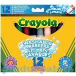 Lemosható vastag filctoll - Crayola vastag szett 12db