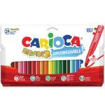 Írószerek - Színes maxi filctoll 24 db-os Carioca