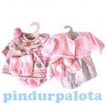 Játékbaba kellékek - Llorens Prémium babaruha rózsaszín 26 cm-es babákhoz