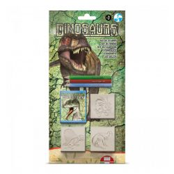 Nyomdák, pecsétek - Dinoszaurusz 3db-os nyomdaszett ceruzával