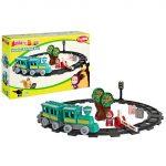 Építőjátékok - Vasúti pályák - Mása és a Medve - Vonatos építőszett 32db-os - Simba Toys