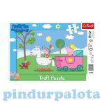 Gyerek Puzzle - Kirakósok - Peppa malac Puzzle Trefl 15 db-os