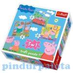 Puzzle gyerekeknek - Peppa malac Puzzle Trefl 3in1