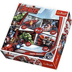 Puzzle 4in1 Avengers Trefl