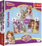 Puzzle gyerekeknek - Szófia Hercegnő 3in1 Puzzle