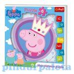 Puzzle - Kirakó - Gyerek puzzle - Peppa malac 6db-os puzzle