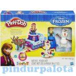 Kreatív hobby - Gyurmák - Play Doh jégvarázs Anna és a varázsszán gyurmaszett