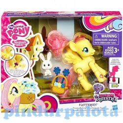 Póni szett - Én kicsi pónim Fluttershy virágokkal póni figura - Hasbro