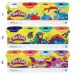 Gyurmák - Play Doh 4 tégely színes gyurma Hasbro
