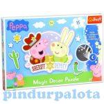 Gyerek Puzzle - Kirakósok - Peppa Magic Decor világítós puzzle 15 db-os