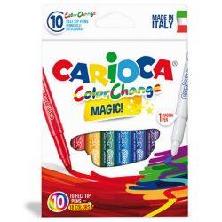 Írószerek - Carioca Színváltós filctoll készlet 9+1db
