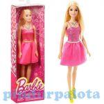 Műanyag babák - Barbie babák - Barbie baba rózsaszín ruhában, Mattel