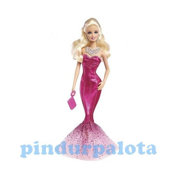 3ab9f1791e Játékbabák - Műanyag-babák - Barbie pink koktélruhában .