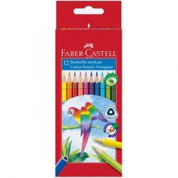 Írószerek - Iskolaszerek - Íróeszközök - Triangular színes ceruza 12 db