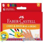 Írószerek - Iskolaszerek - Íróeszközök - Faber-Castell kimosható ujjfesték 6 db