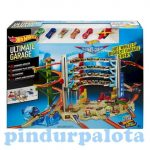 Játék Garázsok - Hot Wheels Ultimate garázs kisautókkal Mattel