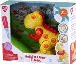 Fiús játékok - Építs T-Rex dinó figurát csavarozó szerelő játék 3 éves kortól