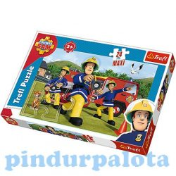 Puzzle gyerekeknek - Sam a tűzoltó Puzzle 24 db Maxi Trefl