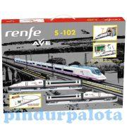 Játékvonatok - Vonatkészletek - Renfe Ave S-102 elemes személyvonat szett