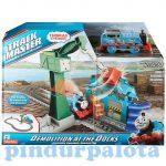 Játékvonatok - Vonatkészletek - Thomas Track Master: Pusztítás a dokkban vonatkészlet Mattel