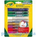 Ragasztók - Crayola Csillámragasztó 9db-os készlet