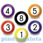Labdák - Játékok gyerekeknek - Billiárd golyó gumilabda 6cm