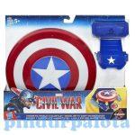 Figurák - Szuperhősök - Bosszúállók Amerika kapitány mágneses pajzs kesztyűvel - Hasbro