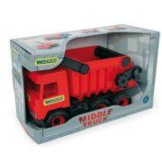Műanyag járművek - Middle Truck Billentős dömper 43cm piros - Wader
