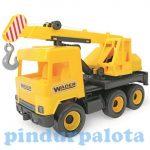 Műanyag járművek - Middle Truck Darus autó 43cm sárga - Wader