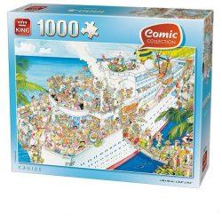 Nehéz puzzle - Hajóút 1000db-os Comic puzzle