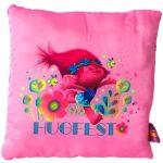 Ajándékok divatos termékek gyerekeknek - Trollok, Pipacs pink párna 30 x 30 cm