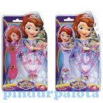 Lányos játékok - Szófia Hercegnő hajkefe és nyaklánc szett